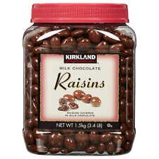 Raisins Milk Chocolate KIRKLAND Signature 3.4 Lbs Free Shipping