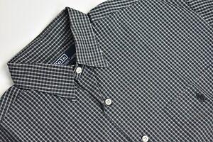 Polo Ralph Lauren Black/White Geometric Point Collar Shirt Men's Size: Medium