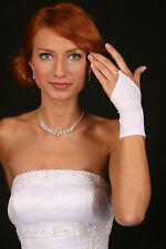 (R1) schlichte Fingerlose Handschuhe in Creme
