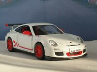 PORSCHE 911 GT3 RS WHITE 1.36 DIECAST MODEL TOY CAR PERSONALISED NEW BOYS TOYS