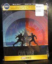 Captain America Civil War Blu-Ray Digital HD Steelbook Best Buy Ferguson Artwork