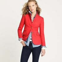 J Crew Hacking Jacket In Double Serge Wool Red Blazer Size 2
