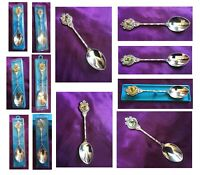 RARE! STUART Silver Plated Spoons TYNEE TIPS TEA set of 6 BIRDS A1 Antique