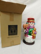 """GLASS FROSTY THE SNOWMAN 16"""" NEW IN BOX"""