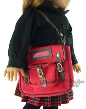 "Red School Book Bag for 18"" American Girl Molly Doll Clothes Reproduction"