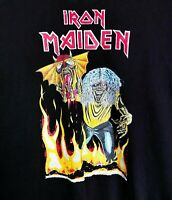 Men's VTG Official IRON MAIDEN '82 Number Of The Beast Band T-Shirt Tee RARE XL
