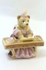 "Halcyon Days The Teddy Orchestra ""Lady Ermintrude on Harpsichord� Bear Figurine"