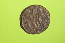 Ancient ROMAN COIN captives Chi-Rho CONSTANTIUS II 324 AD labarum star Christian