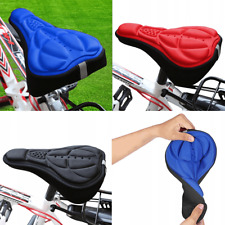 Bike Soft Comfort Gel & Foam Pad Comfy Cushion Saddle Seat Cover Bicycle Cycle
