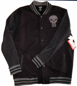Marvel's 'Punisher' ~ Men's ~ Black Logo Jacket with Snap Front ~ Size XXL NWT