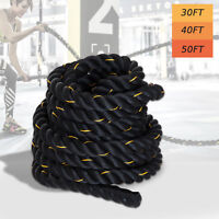 HOMCOM 30ft Poly Dacron Battle Rope Fitness Undulation Rope Exercise Cross