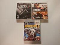 Battlefield Hardline, Call Of Duty Black OPs, Borderlands 2 GOY Ed Lot PS3