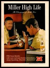 1967 Miller High Life Beer Bottle Bowling Alley Shirts Ball Vintage Print Ad