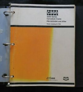 GENUINE CASE 3330 CARRYDECK CRANE PARTS MANUAL CATALOG CLEAN PIN 6225494 & UP