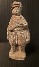 Ancient Hellenistic Old Man Figurine Tanagra Greek Terracotta actor?