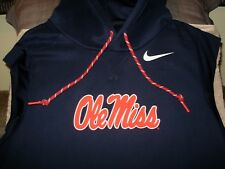 490f0e7f42b0 Ole Miss Rebels Nike Therma Dri-fit Vapor Speed Hoodie Vest Jacket Men s  Large