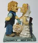 Humorous Funny Resin Just Hitched Redneck Wed'ing Shotgun Wedding Figurine