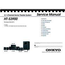 Onkyo HT-R397 & HT-S3900 AV Receiver Service Manual (Pages: 82)