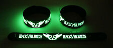 BLACK VEIL BRIDES  Glow in the Dark Rubber Bracelet Wristband Heart Of Fire