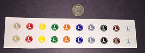 Set of Lionel Post-War #671 Electronic PRE-TRIMMED Waterslide Decals