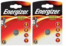 ENVOI AVEC SUIVI - 2 Piles bouton CR1620 Energizer Lithium 3v