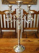 Kandelaber 59 cm Kerzenleuchter Jugendstil Silber Luxus Kerzenhalter Antik Edel