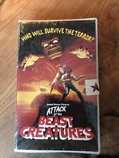 Attack Of The Beast Creatures VHS OOP Tape Rare Horror Clamshell Case Sealed