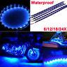 """LOT24 12""""/30CM Blue Car Motor Truck Flexible LED Strip Light Bar Waterproof 12V"""