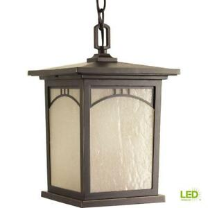 Progress Lighting Residence Col. 1-Light Out. Antique Bronze LED Hanging Lantern