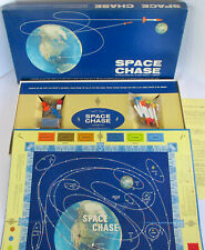 RARE Vintage 1967 SPACE CHASE Board Game PLASTIC SPACEMEN FIGURES Apollo 11 Moon