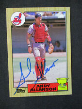 Andy Allanson Cleveland Indians Autographed Signed 1987 Topps #436 EXMT+ 469