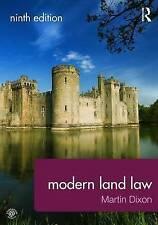 Modern Land Law by Dixon, Martin