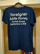 New listing Vintage 70s 1978 Eddie Money Foreigner Concert T Shirt