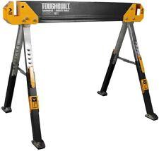 TOUGHBUILT Sawhorse Folding Steel Jobsite Table Adjustable Legs 42.4 Inch Wide