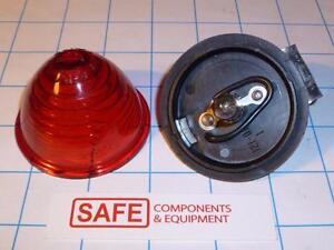 Marker Light Bracket PM110 RED Beehive Ring Lens SAE-PC-70 14V Bulb QTY-1 R53-12