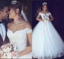 Robe de mariée mariage Robes de soirée Prom Ball Gown Lace evening dresses 2018