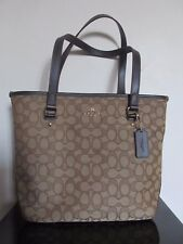 NWT Coach Signature Khaki Brown Tote Shoulder Bag #58282