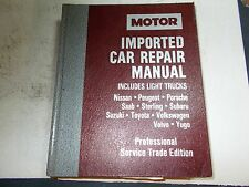 1991 MOTOR'S IMPORTED CAR REPAIR MANUAL 88 89 90 91 ACURA BMW INFINITI MAZDA