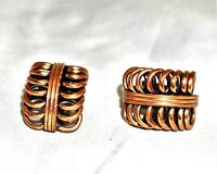 RENOIR Open Loop Copper Clip On Earring Vintage
