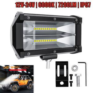 1PC 72W 6000K LED Work Fog Light Flood Beam Lens Kit for Car ATV Truck Off Road