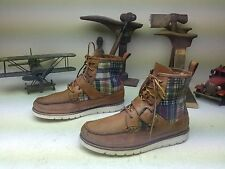 RALPH LAUREN BROWN LEATHER SADDLEWORTH LACE UP BUCKLE BOOTS SIZE 10.5 D