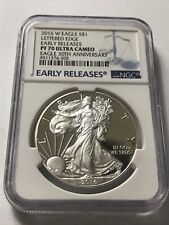 2016 W American Silver Eagle NGC PF70 Ultra Cameo Early Releases *30th Ann**