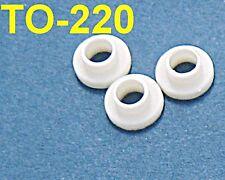 100, Plastic Bushings TO-220 Insulator Washers Transistor Heat Sink Sinking