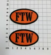 FTW - SET OF 2-  EMBROIDERY SEW ON PATCH - ORANGE & BLACK