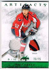 12-13 Artifacts EMERALD Dual JERSEY/PATCH xx/75 Made! Mike GREEN #62 Capitals