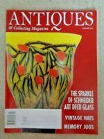 Antiques & Collecting Magazine Feb 2011 Schneider Art Deco Glass Memory Jugs Hat