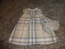 BURBERRY BABY CHILDREN 18M 18 MONTHS PLAID DRESS BLOOMER SET