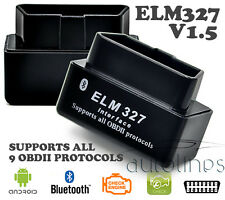 Super Mini ELM327 OBD2 V1.5 BLUETOOTH Android Car Diagnostics Scanner Tool Black