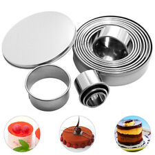 12pcs Kitchen Round Circle Stainless Steel Cookie Cutter Biscuit DIY Pastry Mold
