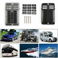 12 Voie Voiture Boîte Porte Fusible avec pôle négatif Pour Car Boat Bus Van 32V